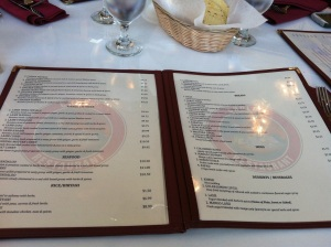 First set of Menus (The Indian Cuisine offerings)