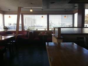 The diner was empty for about 20 minutes until other folks started to stumble in...