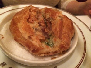 Coquille St. Jacques en Croute (Sea Scallop Baked in Puff Pastry)