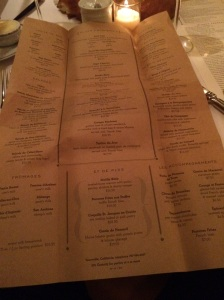 The Menu… so many choices… so little time.