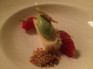 Main Dessert: Blood Orange and Tarragon Sorbet w/ fennel