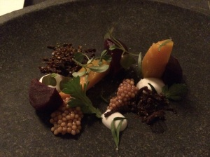 Roasted Bay Beets and Vadouvan spices and fresh herbs