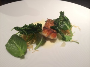 Rock Cod: Salsify, Oro Blanco, Scallion and Fried Kale