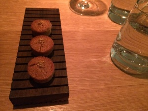 Amuse #1: Caramelized Onion Financier