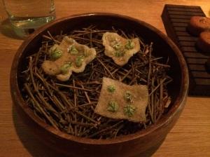 Amuse #2: Crisp Shrimp Rinds w/ Tarragon and Corriander