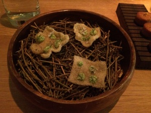 Amuse #2: Crisp Shrimp Rinds w/ Tarragon and Corriander