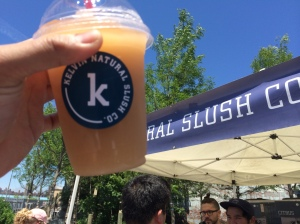 Kelvin Natural Slush, Arnold Palmer White Peach. Great for summer... just not almost a 2 hour wait sort of deal.