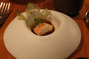 Poached King Crab & Tarragon Shavings