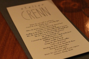 "The ""Poetic Menu"""